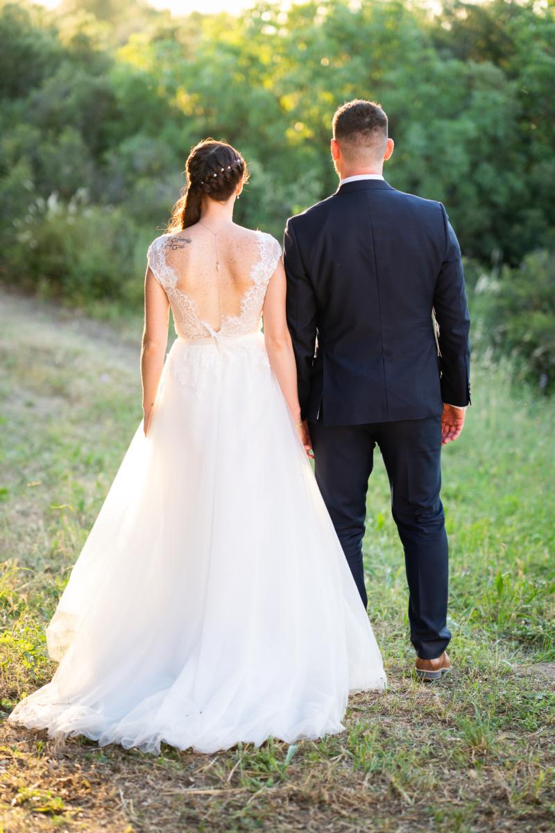 Photo de couple lors d'un mariage à Saint-Cannat en Provence