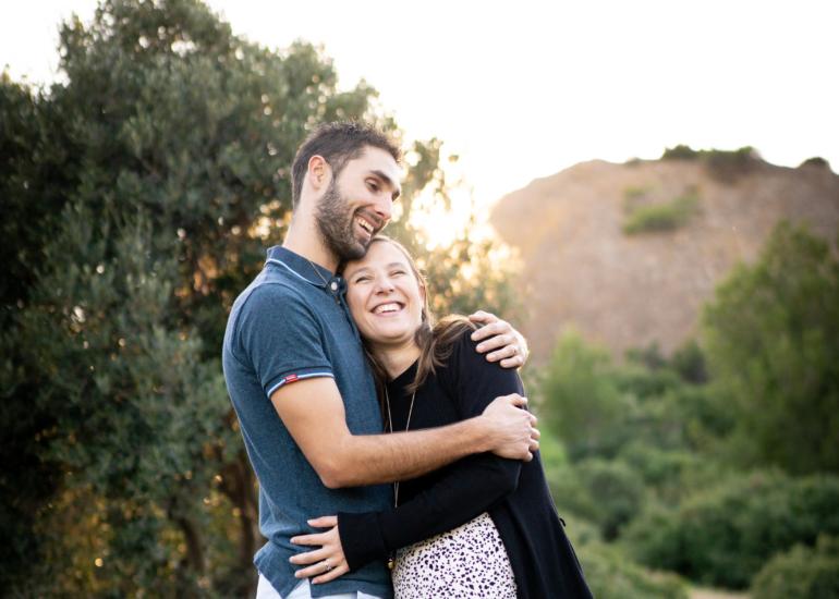 Extrait d'une séance photo couple à Pertuis (Vaucluse, Provence)