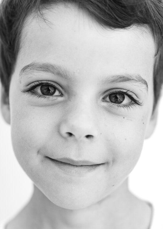 Photo d'un portrait enfant